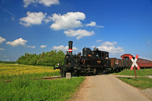 Dampfeisenbahn in Fahrt
