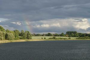 Regenbogen über dem Naturpark Schlei