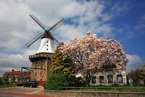 Mühle Amanda, erbaut 1888, beherbergt die Tourist-Information und das standesamtliche Trauzimmer